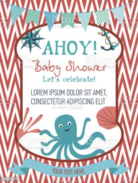 Baby shower cute card with sea design elements vector id849220776?b=1&k=6&m=849220776&s=612x612&h=le4dddvc88ujk hzhyje itamwgv3qob6hp3gc1 nl8=