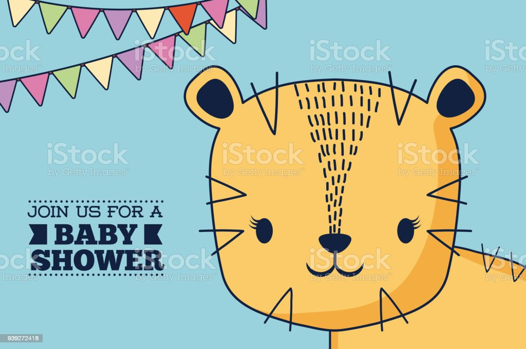Baby Shower Design Stock Vector Art More Images Of Animal