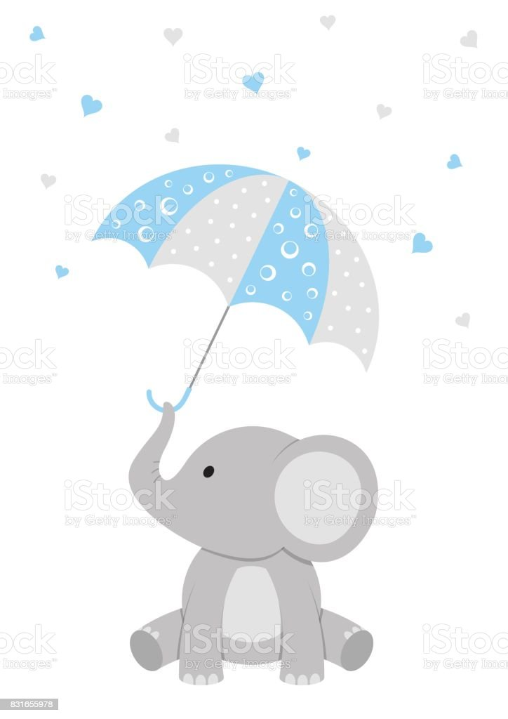 Baby Shower Elephant Design Royalty Free Baby Shower Elephant Design Stock  Vector Art U0026amp;
