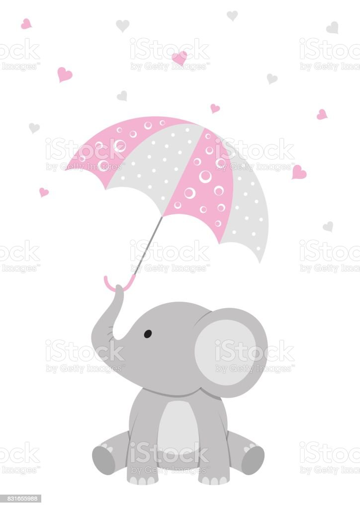 Baby Shower Elephant Design Stock Vector Art & More Images ...