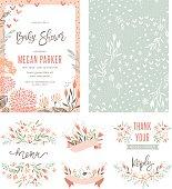 Baby Shower Floral Set