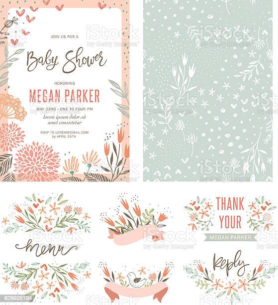 Baby shower floral set vector id626605194?b=1&k=6&m=626605194&s=612x612&h=ilsxopv6yxmrpnj3irgu3zswpvdbhtuyn0udvn9uy20=