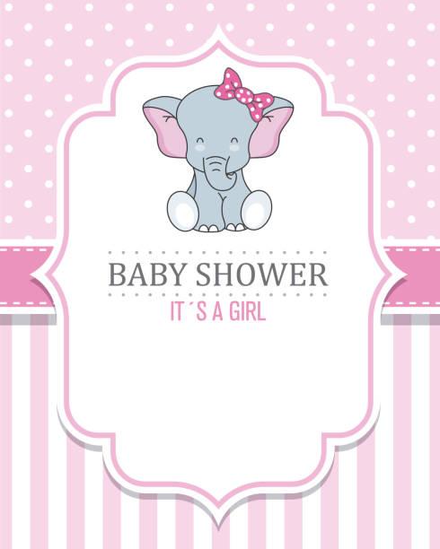 stockillustraties, clipart, cartoons en iconen met meisje van de baby douche - schoolmeisje
