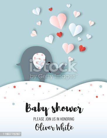 istock Baby shower greeting card. 1190775267
