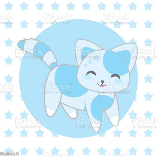 Baby shower illustration with cute blue cat on stars background for vector id1074736392?b=1&k=6&m=1074736392&s=612x612&h=iyxgazupwnlsd5ozi8hjy1hd0nnqwijnsfujh8dmnkq=