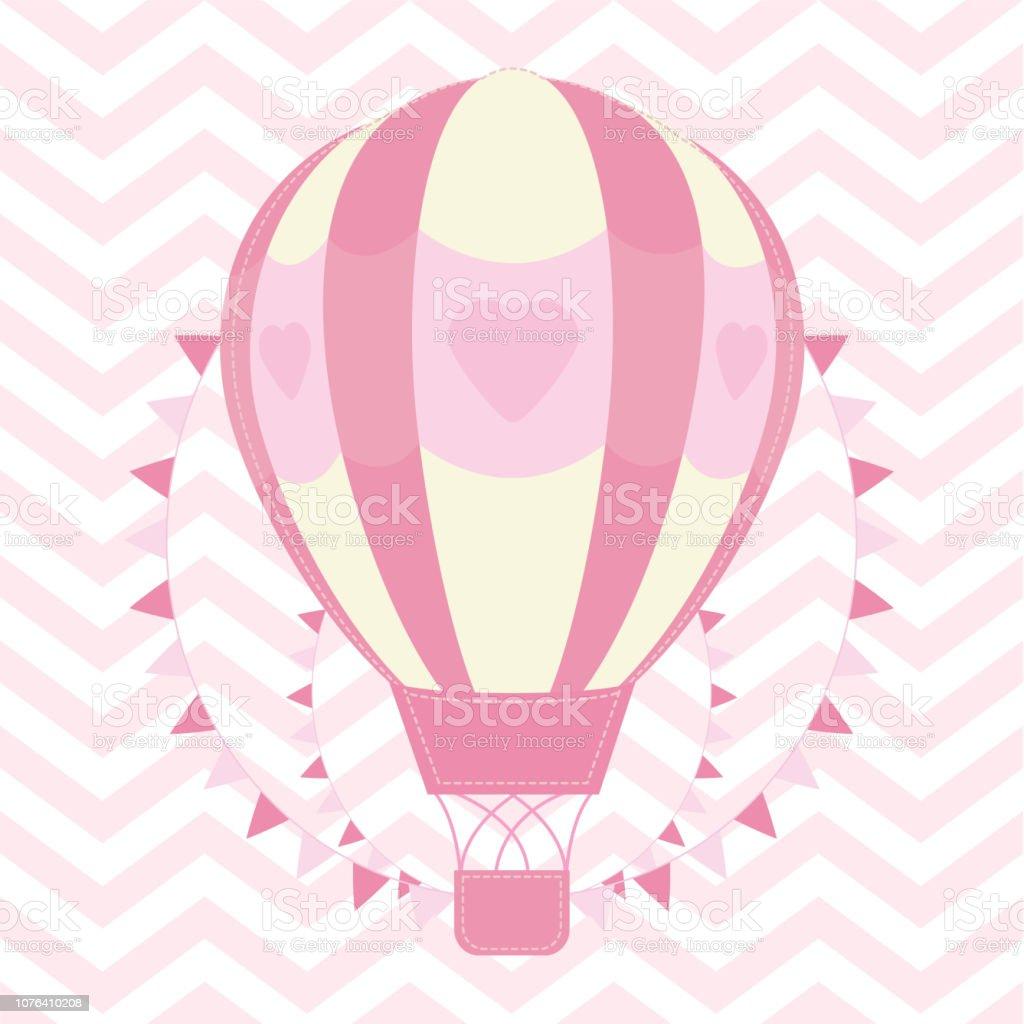 Ilustración De Ilustración De Ducha De Bebé Con Linda Rosa