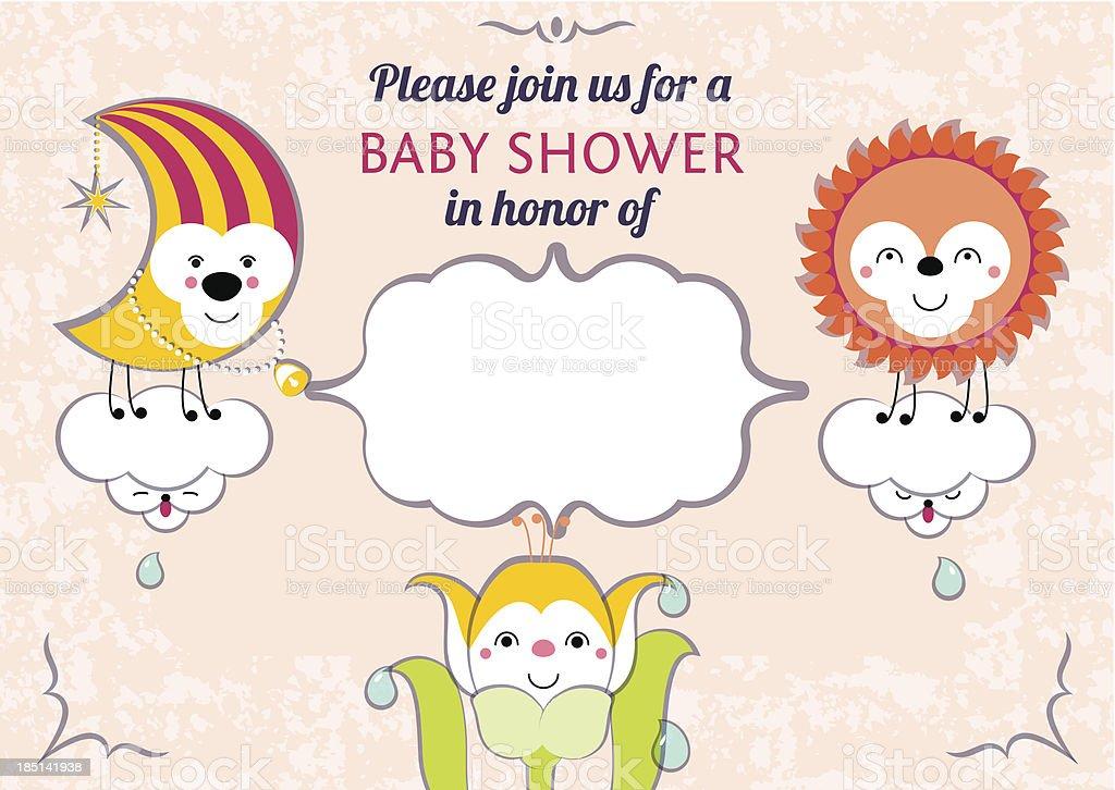 Baby shower invitation card editable template royalty-free stock vector art