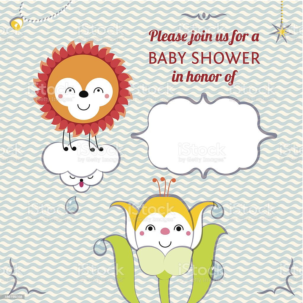 Baby shower invitation card editable template royalty-free stock vector art