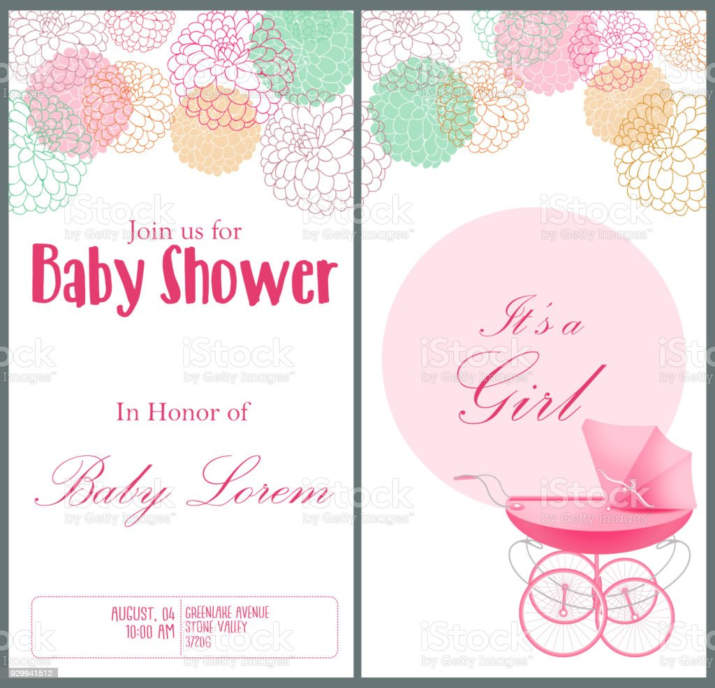 Baby shower invitation card template stock vector art more images baby shower invitation card template royalty free baby shower invitation card template stock vector art filmwisefo Image collections