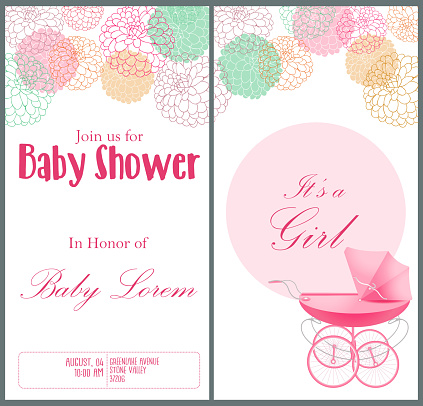 Baby Shower Invitation Card Template Stockowe Grafiki