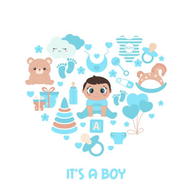 ilustrações, clipart, desenhos animados e ícones de cartão do convite do chuveiro de bebê - novo bebê