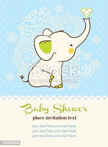 istock Baby shower invitation card. 500003938