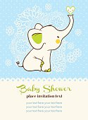 Baby shower invitation card.