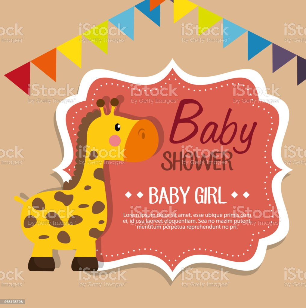 Baby Shower Invitation Card Stock Vector Art & More Images of ...