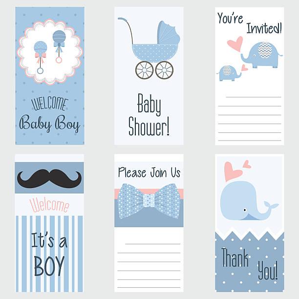 ベビーシャワーご招待カードます。これは、少年。ベビーシャワーグリーティングカード。男の赤ちゃんシャワーセット - 出産点のイラスト素材/クリップアート素材/マンガ素材/アイコン素材