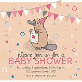 Baby shower invitation template.
