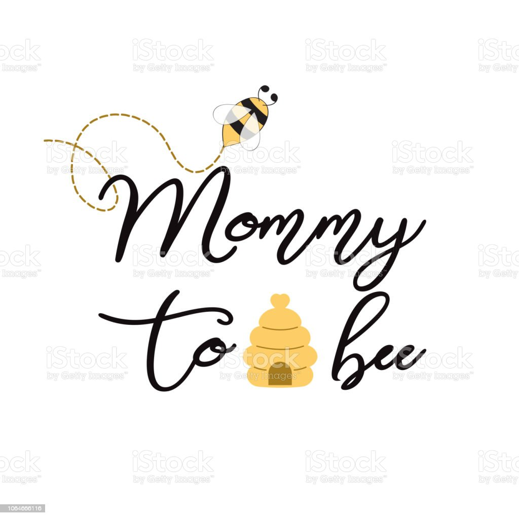 Baby Shower Invitation Template With Text Mommy To Bee Cute