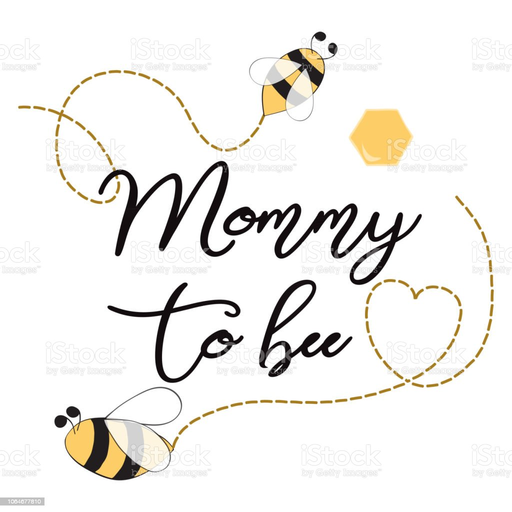 Baby Shower Invitation Template With Text Mommy To Bee Cute Card
