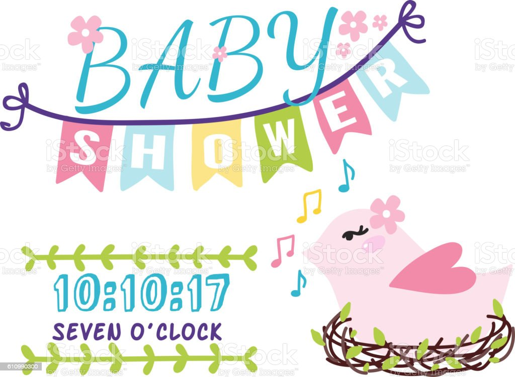Baby shower invitation vector card stock vector art more images of baby shower invitation vector card royalty free baby shower invitation vector card stock vector art stopboris Images
