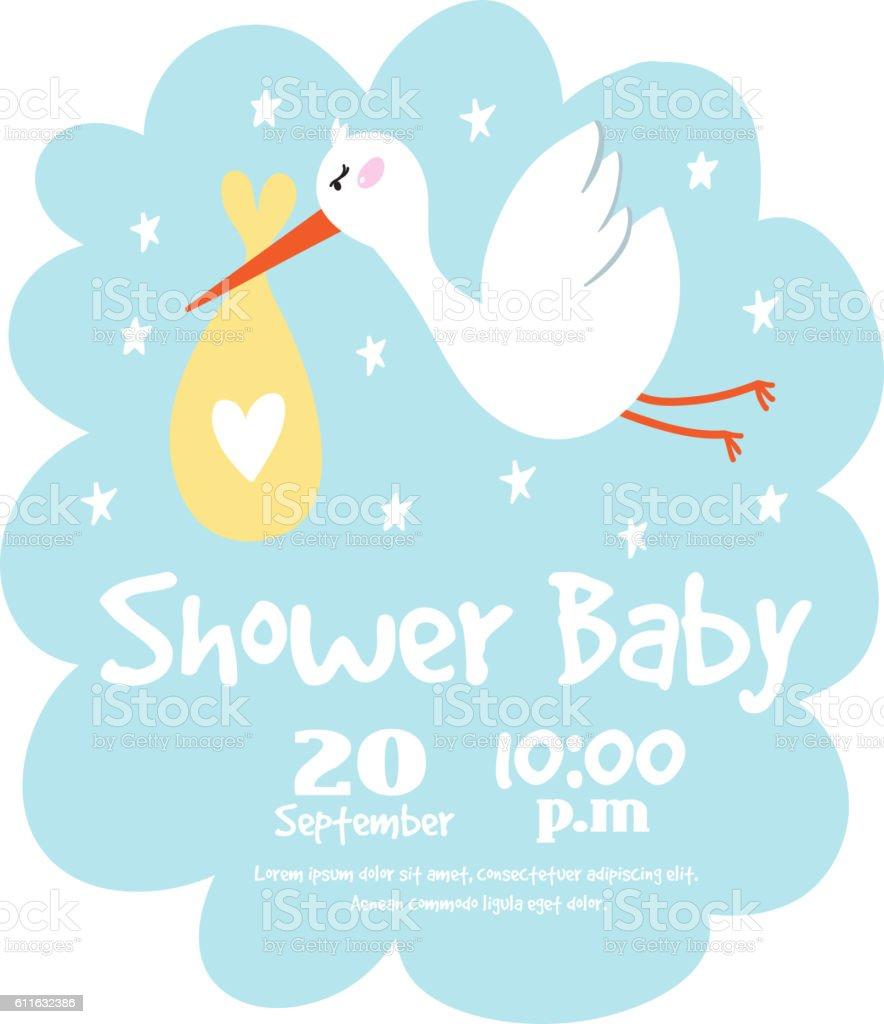 Baby Shower Card Vector ~ Baby invitation vector art gallery sample and