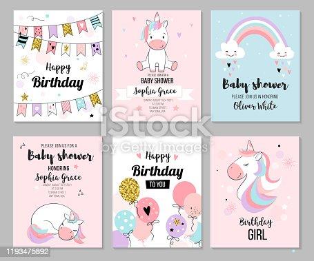 istock Baby shower invitation. 1193475892