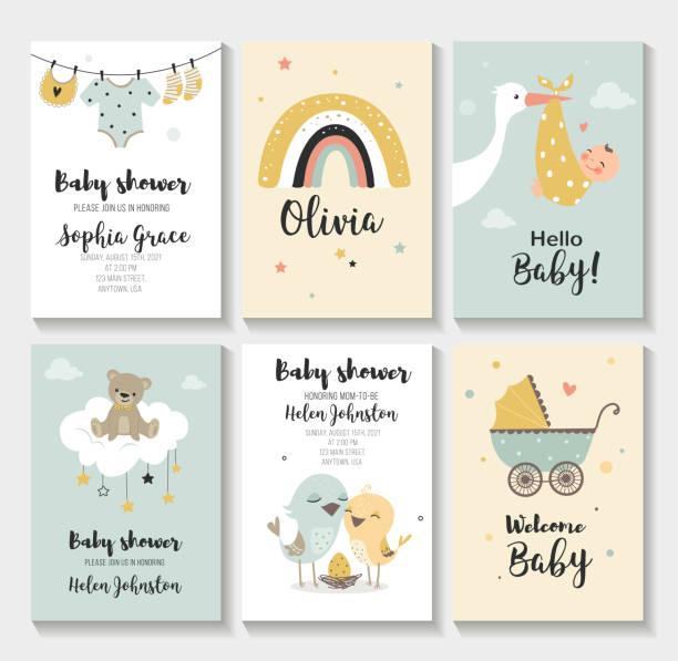 ベビーシャワーの招待状。 - 赤ちゃん点のイラスト素材/クリップアート素材/マンガ素材/アイコン素材