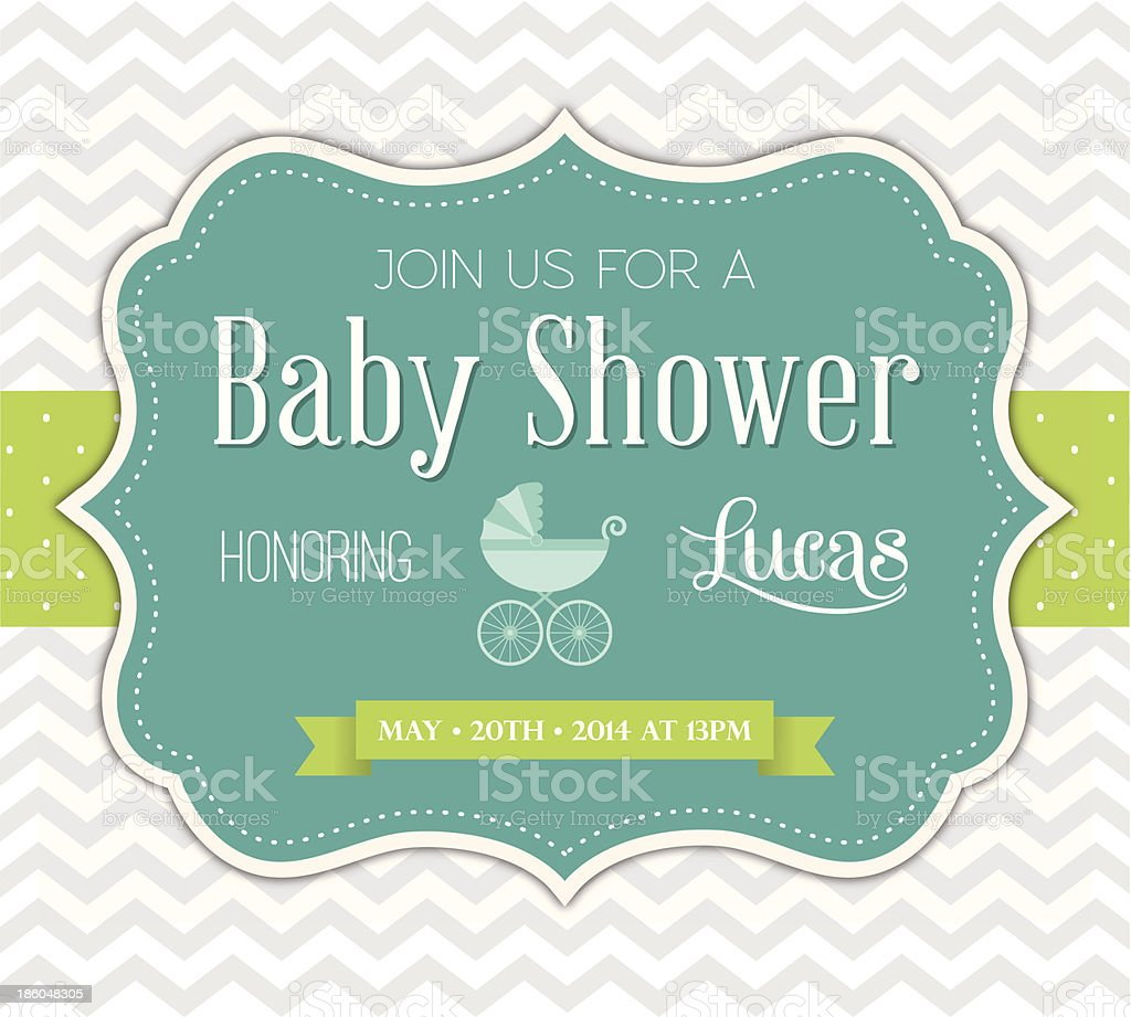Baby Shower Invitation vector art illustration