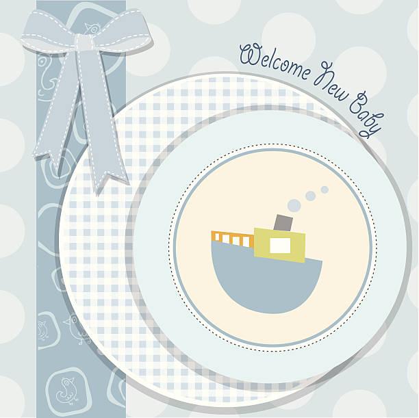 baby shower invitation vector art illustration