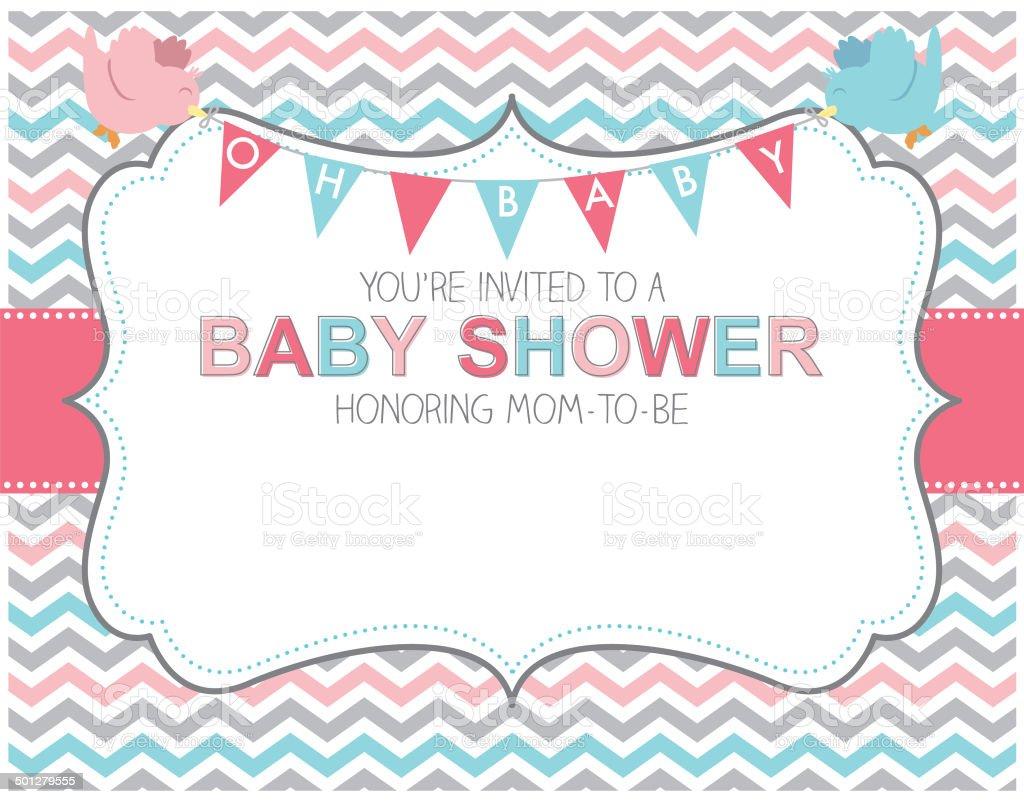Baby shower invitation stock vector art more images of baby baby shower invitation royalty free baby shower invitation stock vector art amp more images stopboris Choice Image