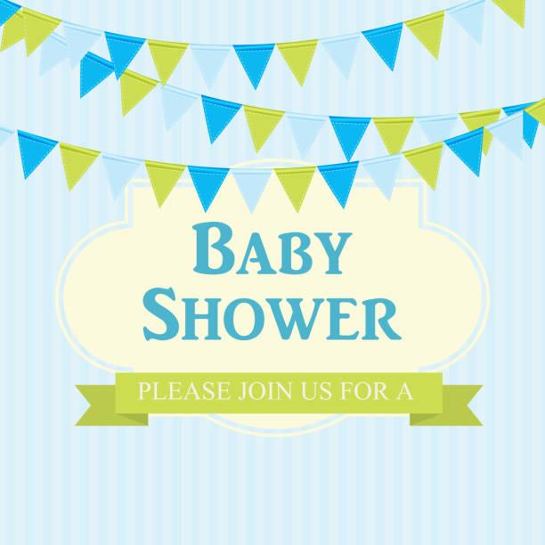 ilustrações, clipart, desenhos animados e ícones de convite do chuveiro de bebê ilustração vetorial - novo bebê