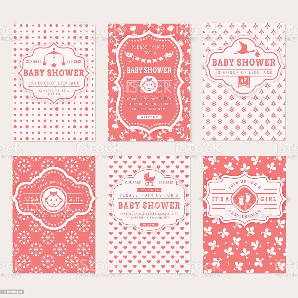 Baby shower invitations stock vector art more images of baby shower invitations royalty free baby shower invitations stock vector art amp more stopboris Choice Image
