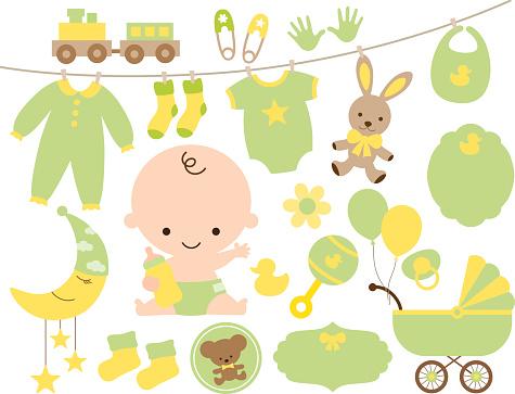 Baby shower stock illustrations