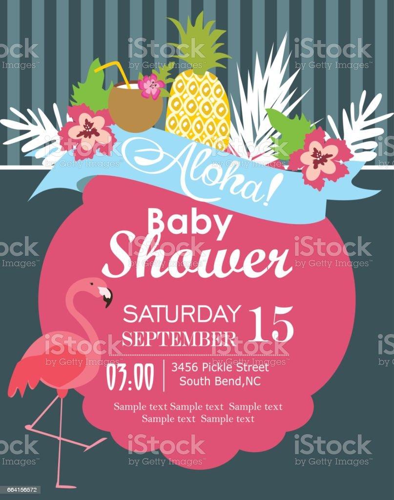baby shower party invitation card イラストレーションのベクター