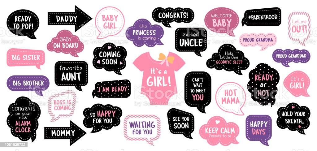 Baby Shower Photo Booth Prop Collection Girls