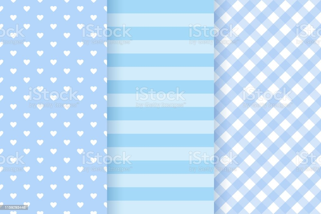 Baby Shower Seamless Patterns For Baby Boy Vector Illustration Stock Illustration Download Image Now Istock