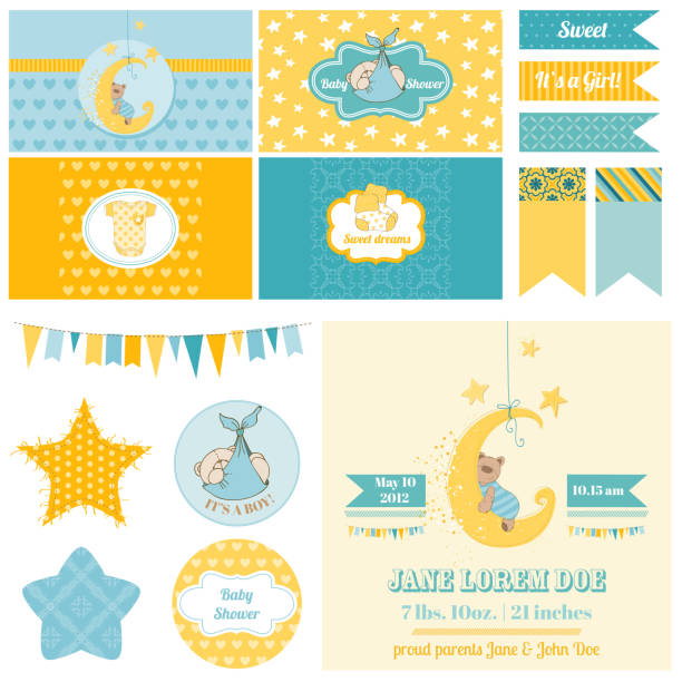 Royalty Free Birth Announcement Clip Art Vector Images