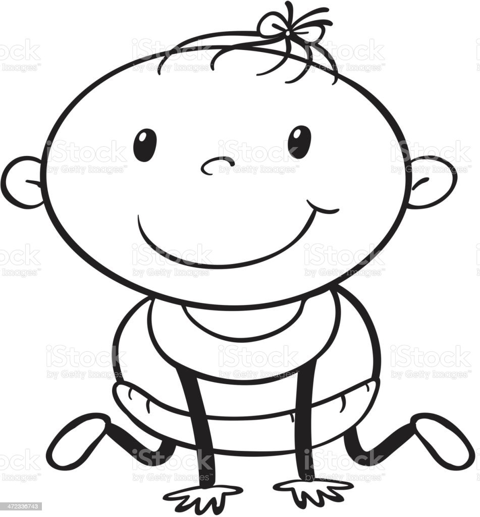 Baby sketch royalty-free baby sketch stock vector art & more images of adult