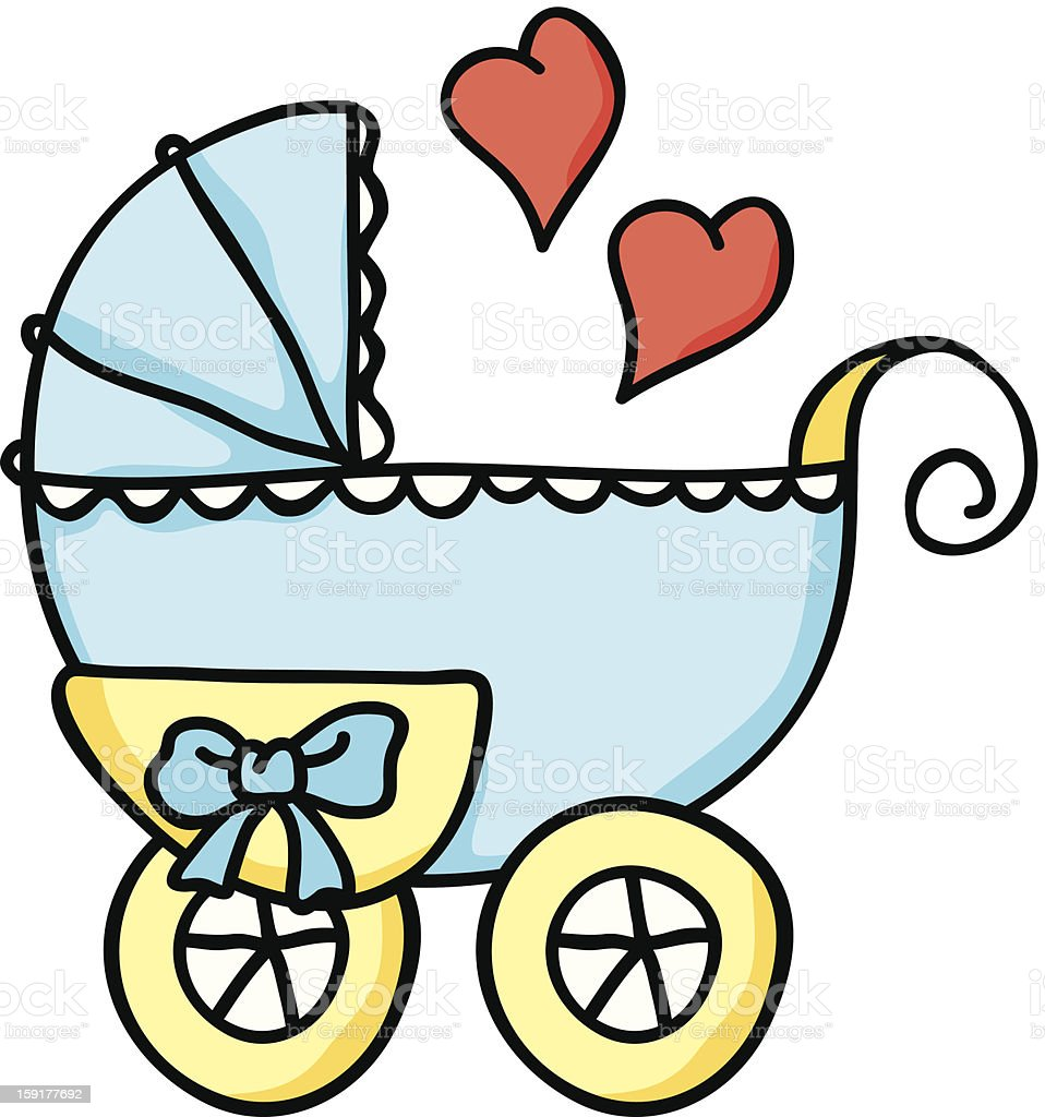 Baby Stroller Hand Drawn Stock Illustration Download Image Now
