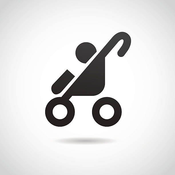 Baby stroller icon. Vector illustration. baby carriage stock illustrations