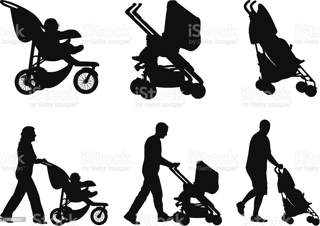 Baby Stroller vector art illustration