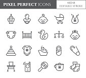 Baby theme pixel perfect 48X48 icons.