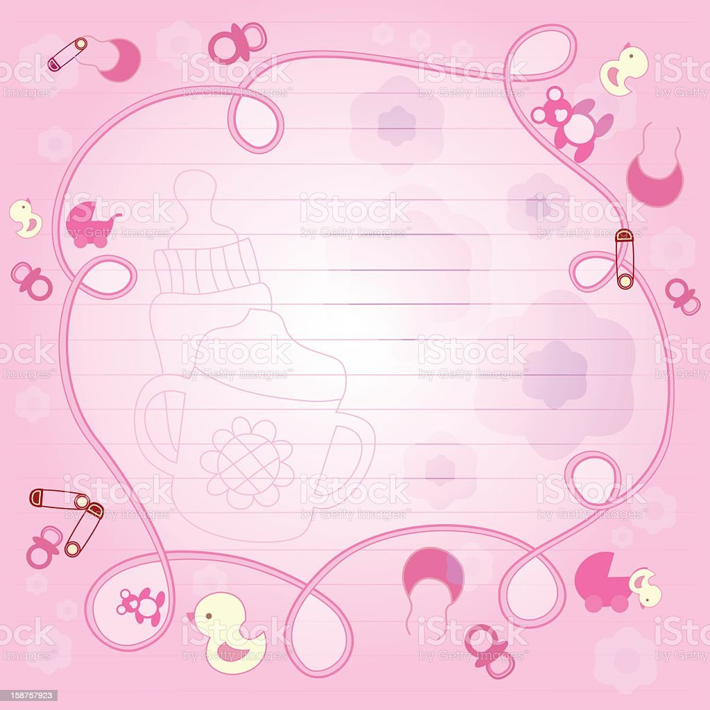 Baby Things Notebook Doodle vector art illustration