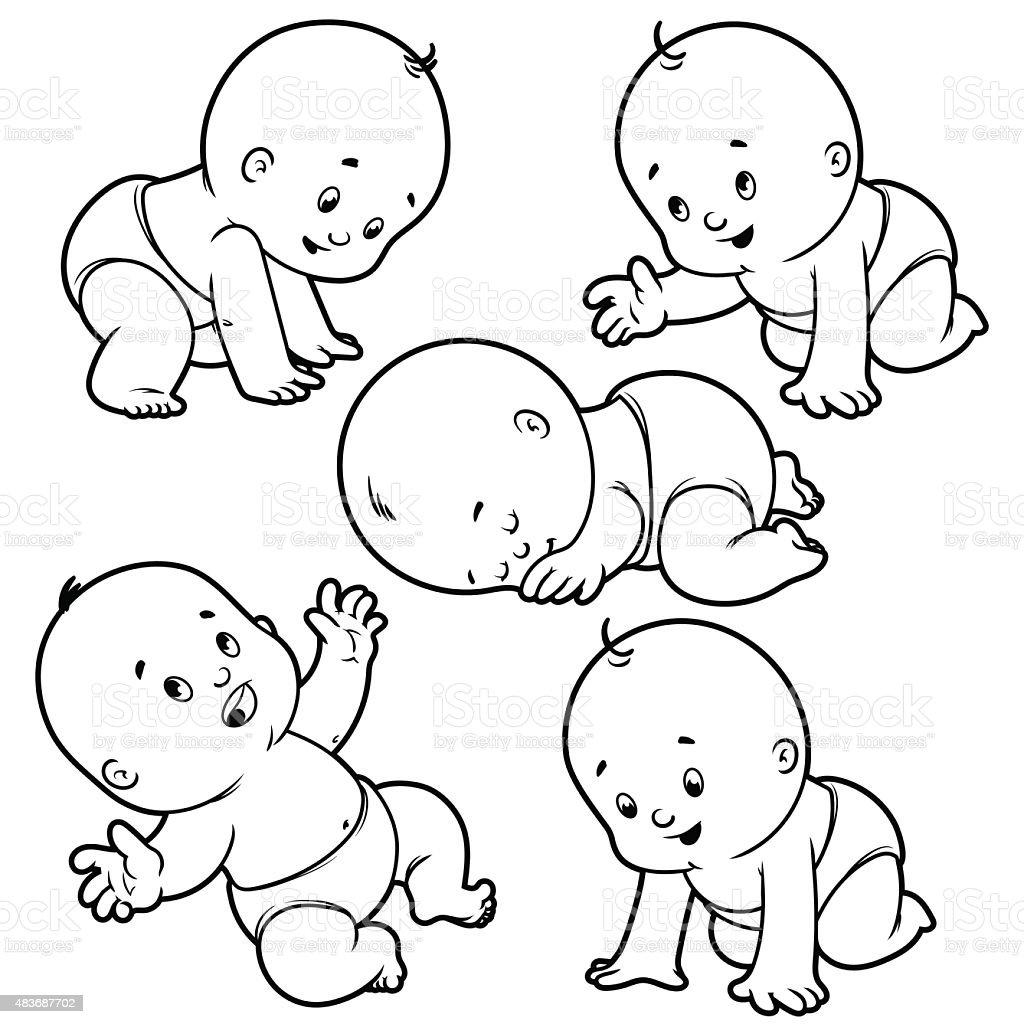 Conjunto Bebé Niño Con Bebé En Pañales Rastreo Bebé Dormitorio ...