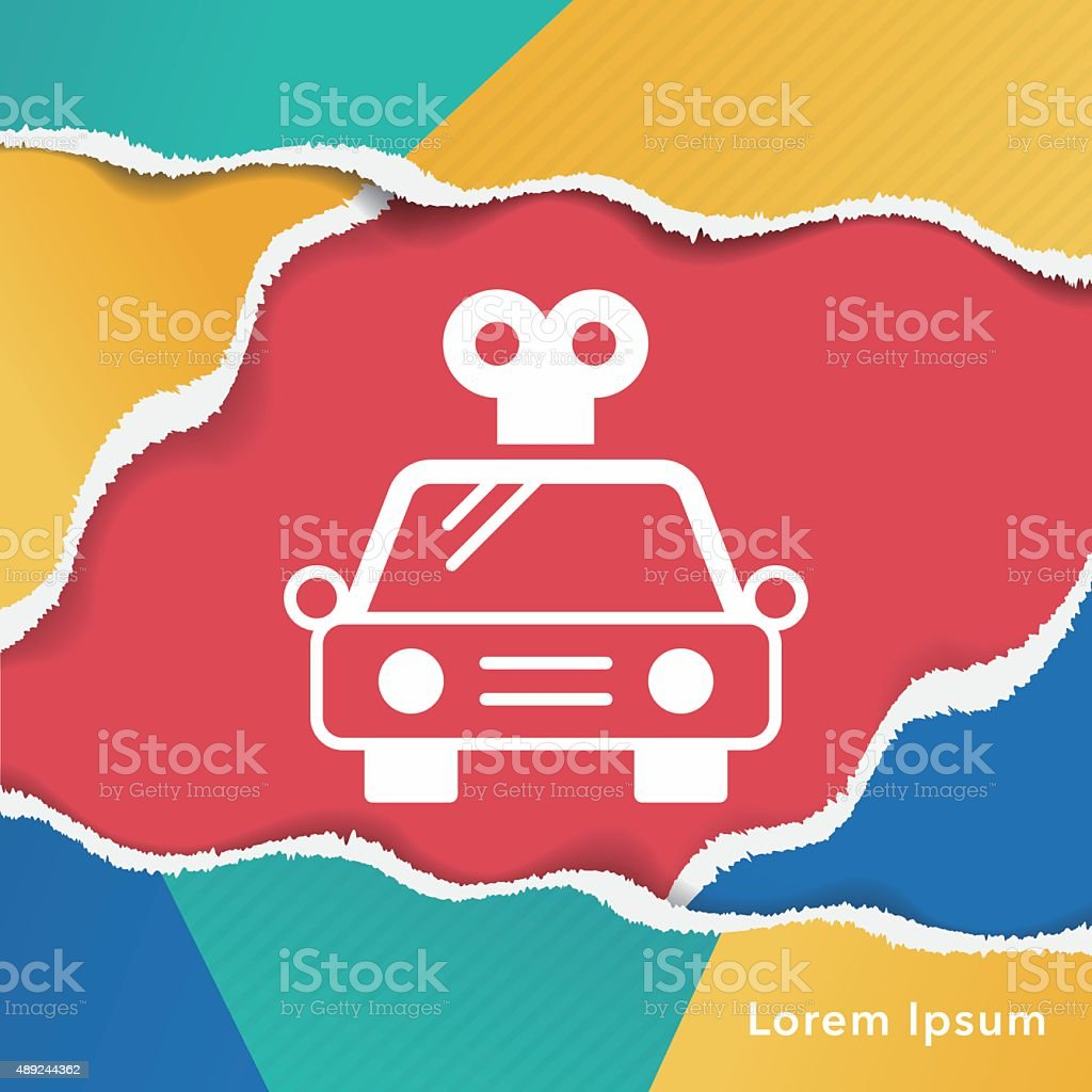 Baby Toy Car Icon Stock Vector Art More Images Of 2015 489244362