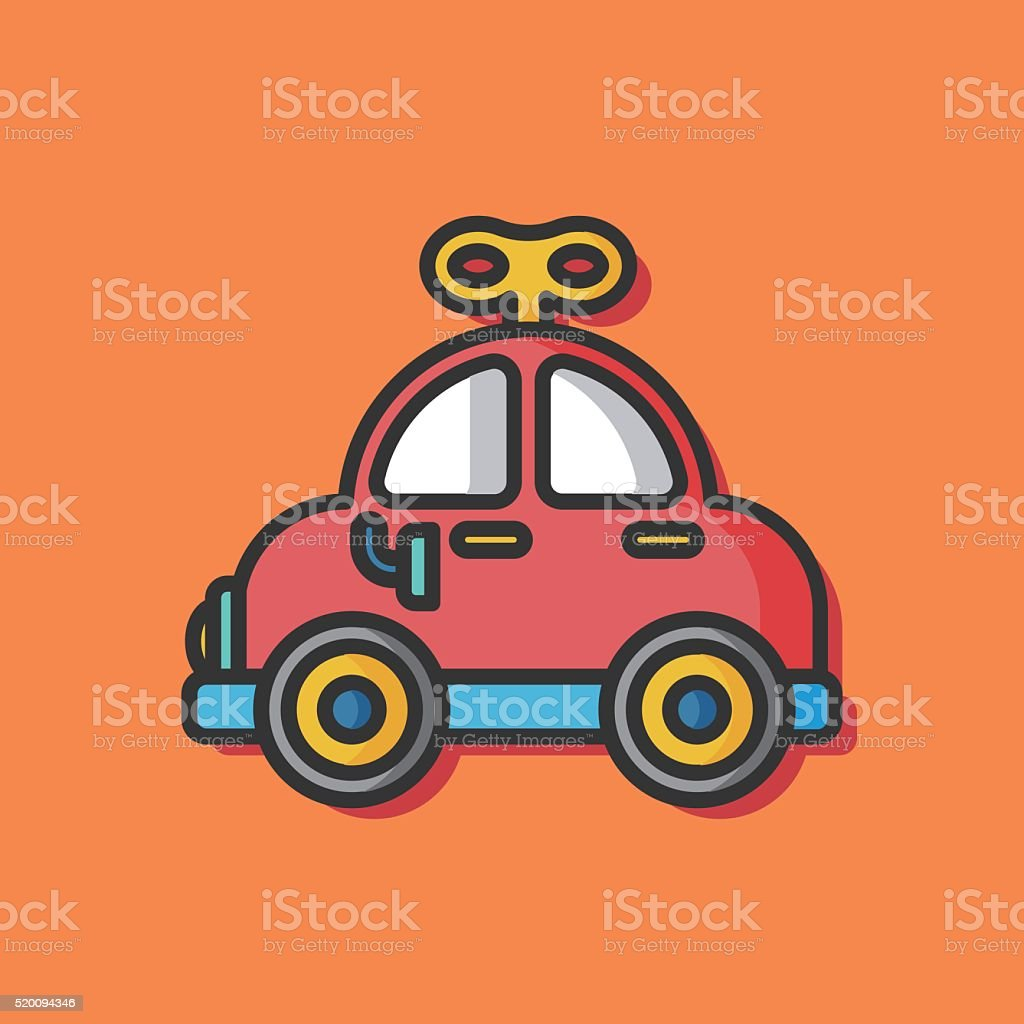 Baby Toy Car Icon Stock Vector Art More Images Of Backgrounds