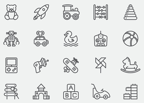 Baby Toy Line Icons | EPS10