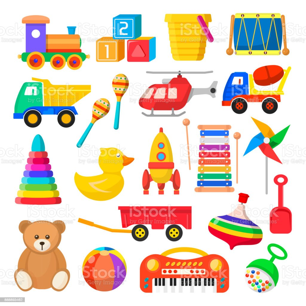 Baby toy set - Royalty-free Animal stock vector