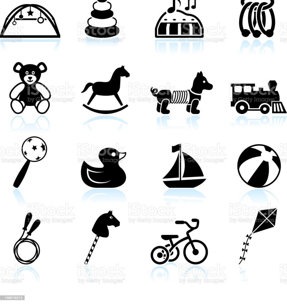 Toddler Toys Black And White : Baby toys black white royalty free vector icon set stock