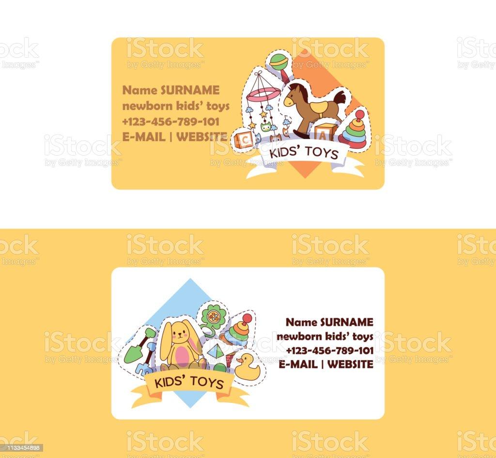 Babyspielzeug Visitenkartenvektorkidsspiele Entenpyramide