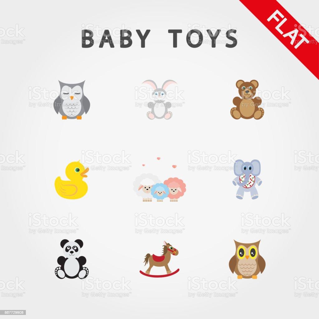 Animaux En Plastique Jouet jouets de bébé mignons petits animaux vecteurs libres de
